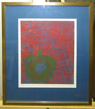 Robert Beauchamp 1975 Expressionist Serigraph of an Apple Listed NY Artist