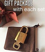 LOUIS VUITTON LOCK KEY POLISHED! W/LV gift box, anti-tarnish pouch, LV ribbon