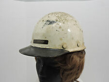 Vintage MSA Skullguard Hard Hat Ironworker Construction Safety Helmet Fiberglass