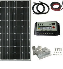 100W 200W solar panel kit dual 20A Battery Charge Controller Caravan motorhome