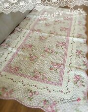 Handmade Country Patchwork Quilted Floor Rug Made with Laura Ashley Fabric ML09