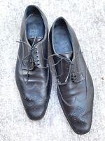 Giorgio1958 Men's Leather Handmade Shoes Italy Wingtip Perf EU 43.5 US10-10.5