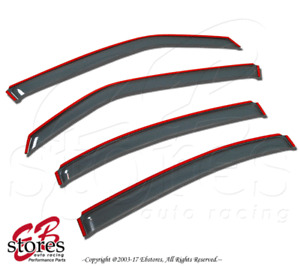 Light Tinted In Channel Visor Deflector 4pcs For 2004-2015 Nissan Titan Crew Cab