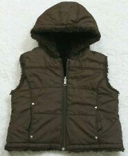 Reversible Hooded Vest Jacket Coat Zip Front Woman 6/6X Sleeveless KC Collection