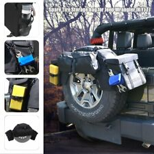 4x Black Cargo Storage Bag Spare Tire Backpack for Jeep Wrangler JK 1996-2017