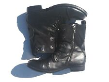 J75 by JUMP Black Combat Trooper Lace Zip Up Military Boots Size 10
