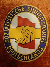 GDR Shield from Cardboard Socialist Einheitspartei Sed - Vintage - around