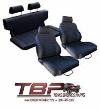 1966-1977 Early Ford Bronco Black Front & Rear Seat Kit w/ hardware NEW