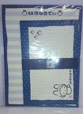【Hello Kitty】sold out Japan-Pattern Rabbit Indigo dyeing Letter Set JAPAN rare