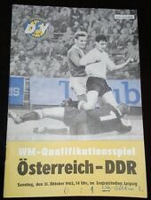 Programmheft 31.10.1965 DDR Österreich WM Qualifikation Länderspiel Leipzig
