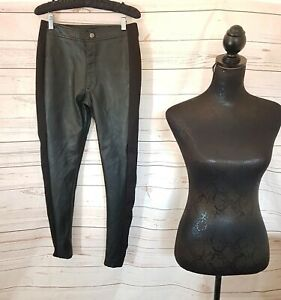 B You Faux Leather Trousers UK 8 more like 10 Black