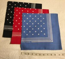 Enormous Handkerchief Men's Large Navy/Red/Blue Spotted Cotton Hankies, Set Of 3