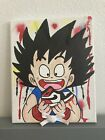 8x10 Anime Goku Dragon Ball Graffiti Drip  Acrylic Art Painting