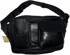 Leather waist pouch large waist bag leather bag Fanny pack sports bag 5.5 pocket
