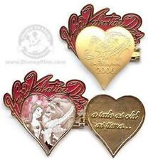 BELLE+BEAST Beauty & THE Happy VALENTINES DAY Hinge HEART 2006 LE WDW Disney PIN
