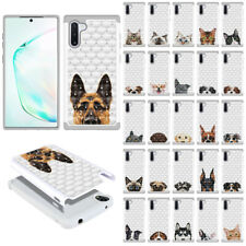 """For Samsung Galaxy Note 10 6.3"""" 2019 Pet Design Bling Hybrid Rubber Case Cover"""