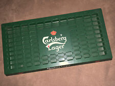 New listing Carlsberg Lager Beer Plastic 2-Pc Bar Drip Tray Grate Used Condition Vintage