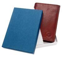 Portefeuille avec nombreux porte cartes cuir de vachette véritable homme femme