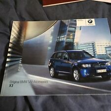 2006 BMW X5 Accessories USA Market Color Brochure Catalog Prospekt