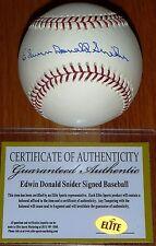 BROOKLYN LA DODGERS EDWIN DONALD DUKE SNIDER AUTHENTIC AUTOGRAPHED MLB BASEBALL