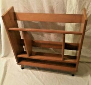 Beautiful Mid Century Modern Walnut Bookcase Record Stand Or Shoes Rack