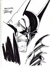 BATMAN with Batarang by TOM MORGAN 8  x 11  Convention Sketch 1995 Comic Art