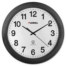 """Lorell Wall Clock, 12"""", Arabic Numerals, White Dial/Black Frame 60997"""