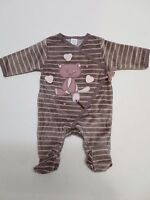 Baby girls velour sleepsuit  romper outfit newborn 1 3 6 9 18 month  RRP £!5 NEW