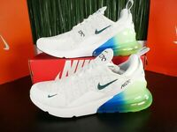 Nike Air Max 270 SE Mens Running Shoes White Blue Green AQ9164-100 Size 14