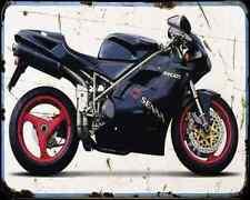 Ducati 916 Senna A4 métal signe Moto Vintage Aged