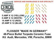 48-Piece Flosser Bullet Torpedo Ceramic Fuse Kit  Audi Mercedes VW Porsche BMW
