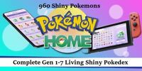 ✨Shiny✨ Pokedex Pokemon Home - Shiny Living Pokedex Gen 1-7