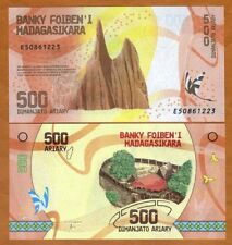 Madagascar, 500 Ariary, 2017 P-New UNC > Completely Redesigned, Village