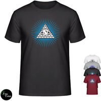 """Illuminati eye"" simple Unisex Tee design cotton blend T-Shirt"