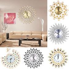 Artificial Diamante Hanging Luxury Beaded Jeweled Wall Clock Office Indoor