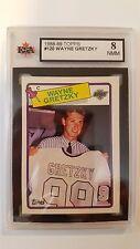Wayne Gretzky 1988-89 TOPPS card KSA Graded 8!!