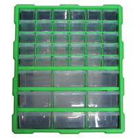 Double Storage 39 Drawers Unit Cabinet Box Workshop Tools Organizer Case DIY