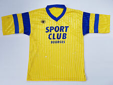 MAILLOT FOOTBALL PORTE WORN SHIRT ANCIEN VINTAGE BOURGES SPORT CLUB LE ROC N°5