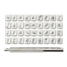 36 Pcs Stamp Letter Number Stamp Punch Set Hardened Metal Wood Leather Q2M3