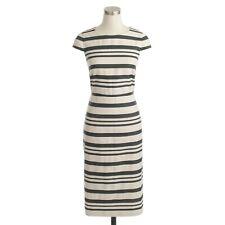 J CREW striped linen dress