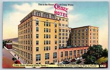 Crazy Water Hotel in Mineral Wells, Texas Palo Pinto Linen Postcard Unused