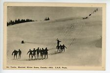 X-Country & Alpine Skiing MONTREAL Vintage CNR Postcard Winter Sports 1947