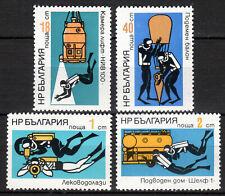 Bulgaria - 1973 Underwater research - Mi. 2212-15 MNH