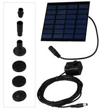 7V Fountain Water Pump + Solar Powered Panel Kits For Garden Pond Pools Watering
