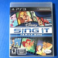 Disney Sing It Family Hits (Sony PlayStation 3, 2010)NEW SEALED PS3 game NO MIC.