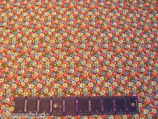 CALICO FLOWERS DAISIES BUTTERFLY BLOSSOMS on COTTON FABRIC Priced By The Yard
