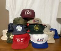 Vtg Lot Of 20 Trucker Hats & Baseball Caps, Snapback, Adjustable, Breathable !