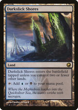 MTG - SOM - Scars of Mirrodin - Darkslick Shores x4 - Rare