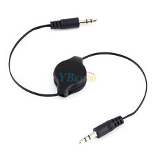 Audio Cable for PC iPod Retractable 3.5mm AUX Auxiliary Cord  Stereo