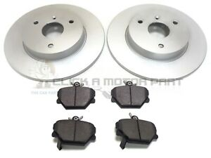 SMART CAR FORTWO COUPE & CABRIOLET 2012-2015 FRONT 2 BRAKE DISCS AND PADS SET